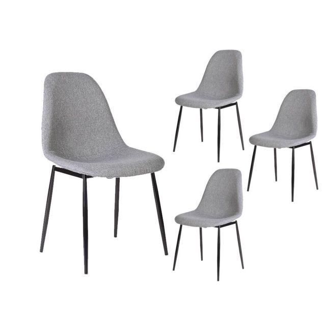usinestreet lot de 4 chaises scandinaves eli en tissu. Black Bedroom Furniture Sets. Home Design Ideas