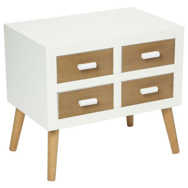 Atmosphera Commode 4 tiroirs Helga - Blanc