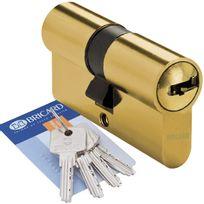 Bricard - Cylindre de porte 40 x 40 mm Medial Barillet haute sécurité 4 clés et carte de propriété