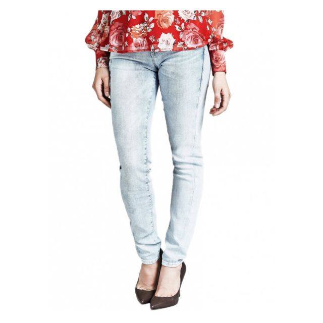 Jeans Femme Jegging Skinny Bleu Bleach Taille 33