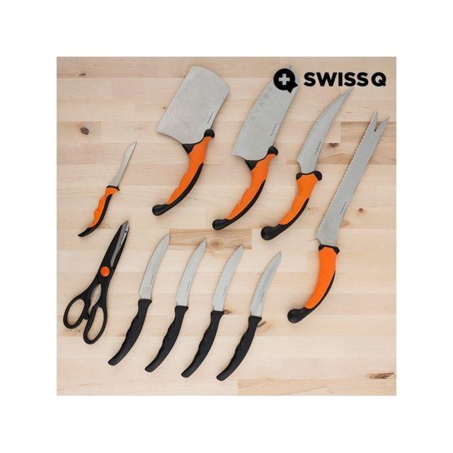 Appetitissime Jeu de couteaux Swiss Q Ergo 10 pièces