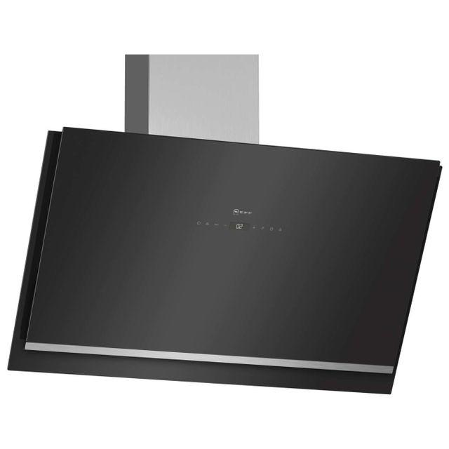 Neff hotte d corative inclin e 89cm 740m3 h noir d95ikp1s0 achat hotte d corative - Hotte decorative 90 cm inclinee ...