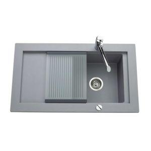 schock vier granit gris sena 1 bac 1 gouttoir pas cher achat vente evier rueducommerce. Black Bedroom Furniture Sets. Home Design Ideas