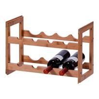 Zeller Present - Casier à bouteilles empilable bois de bambou Zeller