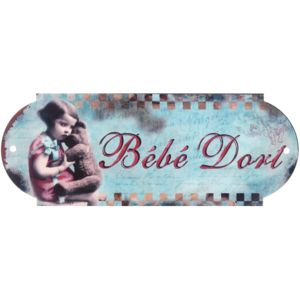 Promobo plaque de porte panneau chambre m tal r tro vintage b b dort pas cher achat vente - Chambre de commerce porte de champerret ...