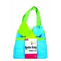 Dogo - 40946 - Outillage De Jardin Pour Enfant - Sac Fourre-tout + 2 Outils Enfant Bleu/VERT