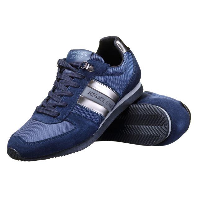 Versace Jeans - Basket E0 Yobsa1 239 Bleu - pas cher Achat   Vente Baskets  homme - RueDuCommerce bbe2d1fc8f2