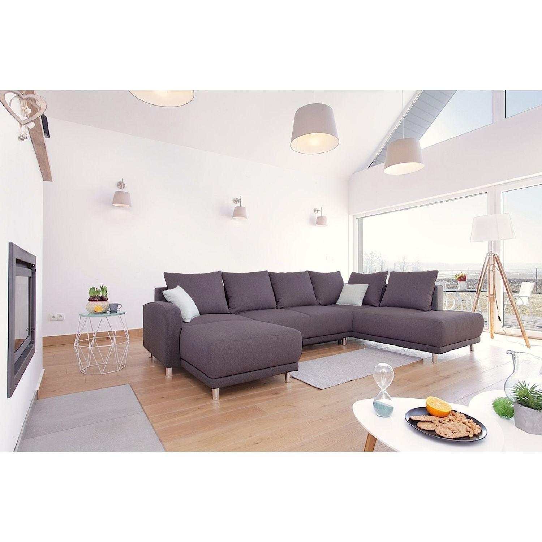 bobochic canap d 39 angle convertible minty panoramique droit tissu gris anthracite 155cm x 90cm. Black Bedroom Furniture Sets. Home Design Ideas