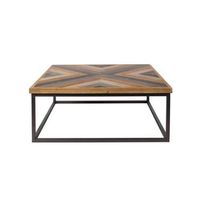 Table Basse En Bois Pas Cher.Table Basse Carree Joy Boite A Design
