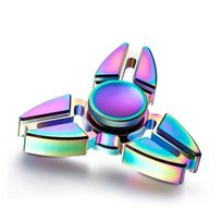 Shopinnov - Hand spinner robuste et durable alliage de zinc multicolore tri-spinner compact