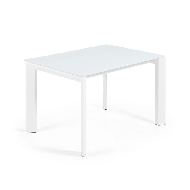 Kavehome table extensible axis blanc 120 180 x80 cm Table a manger carrefour