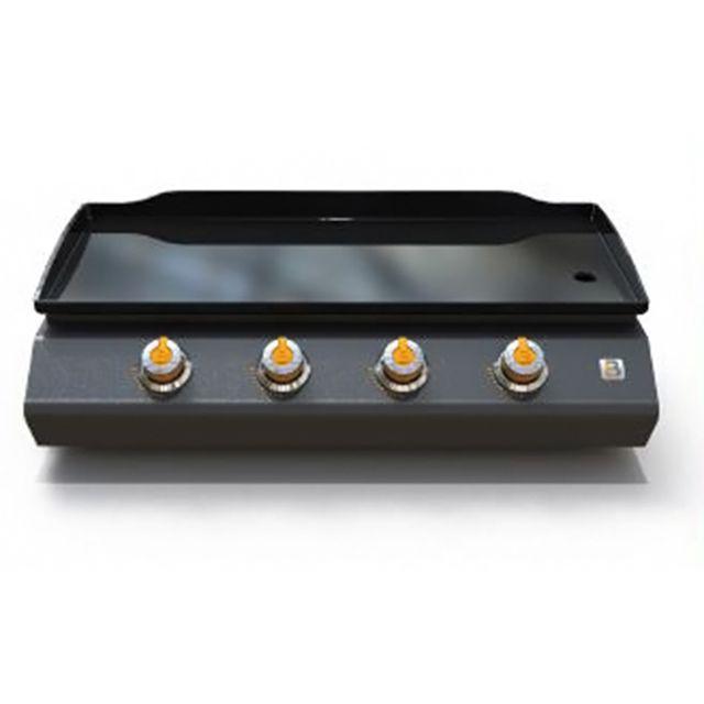 FAVEX - plancha gaz 10kw plaque acier émaillé 84x34cm noir - 976.0106