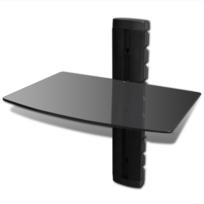 Vidaxl - Étagère murale noire 1 tablette pour Dvd