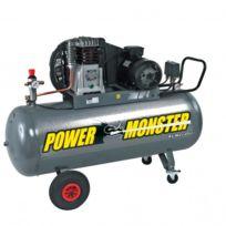 Mecafer - Power Monster - Compresseur pro triphasé 200L 4Hp 10 bars