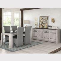 Salle à manger moderne couleur chêne gris Camelia