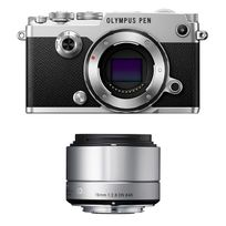 Olympus - Pack Pen-f Silver + Sigma 19mm Silver