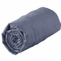 Douceur D'INTERIEUR - Drap housse coton 57 fils bleu azur 160 x 200 cm