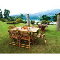 Table rectangulaire pour jardin en bambou - Dim : H 75 x L 150 x P 90 cm