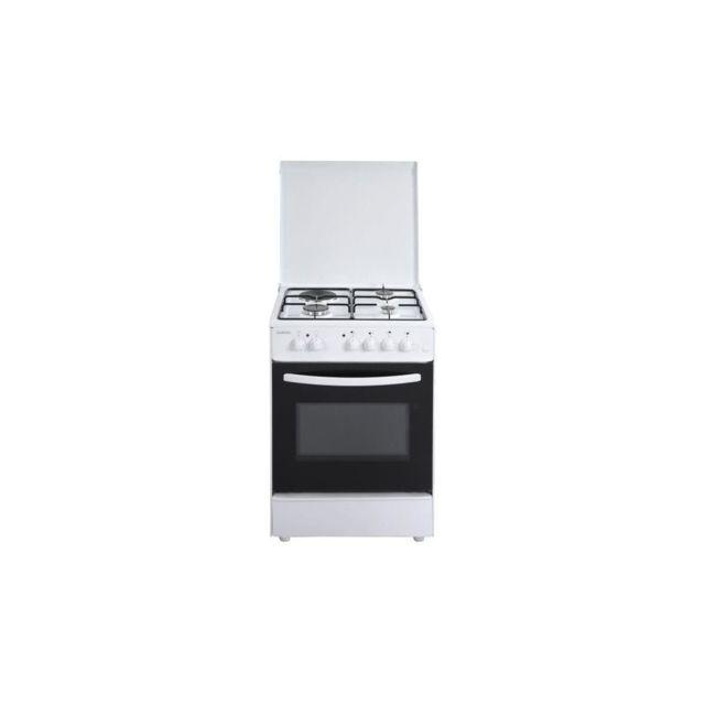 Oceanic Oceacm6060w8-cuisiniere Table Mixte Gaz / Electrique-4 Foyers-four Convection Naturelle-65 L-a-l 60 X H 85cm-blanc