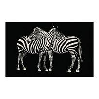 Deco Tapis - Tapis Zebre touché moquette 50x80