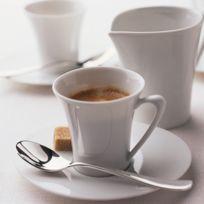 Les 6 tassses et soucoupes à café-Boréal Blanc par