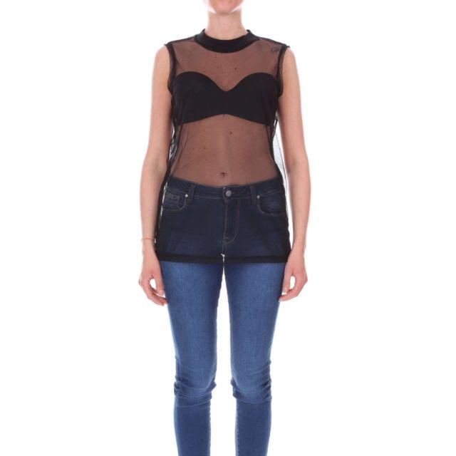 Numero 00 Numero00 Femme 2347 Noir Coton Top