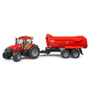 tracteur forestier avec remorque basculante