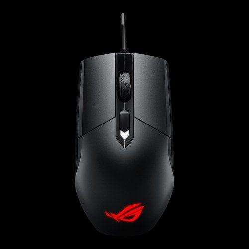 ASUS Souris Gaming ROG Strix Impact Souris optique gaming légère pour les MOBA au design ambidextre ergonomique et l'éclairage Aura Sync