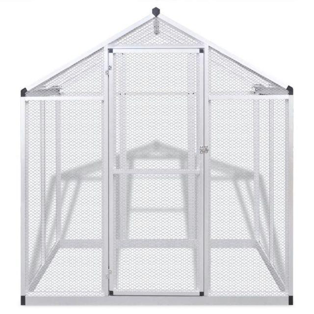 Icaverne - Abris et cages pour petits animaux selection Volière d'extérieur Aluminium 178 x 122 x 194 cm