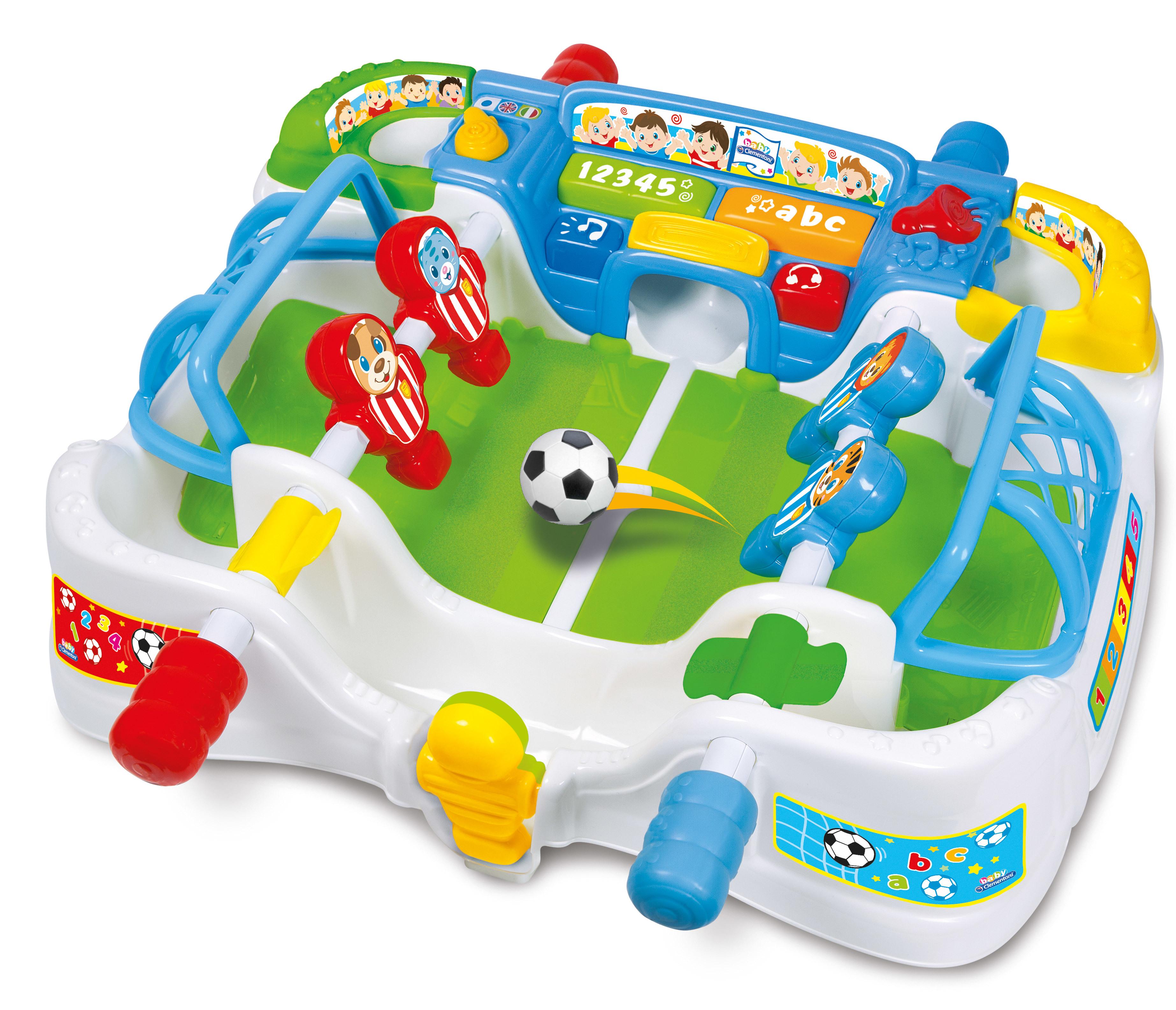 clementoni babyfoot des tout petits pas cher achat vente jouet lectronique enfant. Black Bedroom Furniture Sets. Home Design Ideas