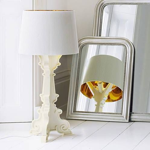 Kartell - Bourgie - Lampe à poser Blanc/Or H68-78cm