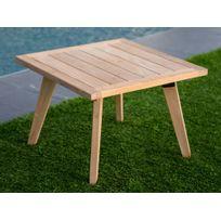 Ermanno G - Table basse de jardin en teck brut 60x60cm Ethnika