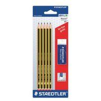 Staedtler - Pack de 5 crayons Hb + 1 gomme offerte Noris
