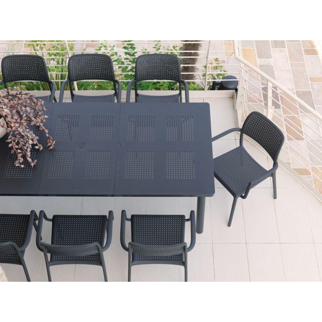Nardi - table de jardin perforé résine 160/220 libeccio ...
