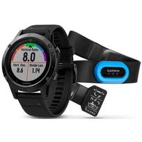 Garmin - fenix 5 Saphir - Cardiofréquencemètre - Performer Bundle / Premium Hrm-run Brustgurt + QuickFit gris/noir