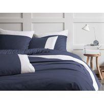 housse de couette bleu nuit achat housse de couette bleu nuit pas cher rue du commerce. Black Bedroom Furniture Sets. Home Design Ideas