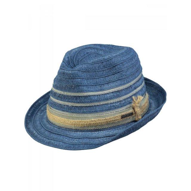 styles frais lacer dans techniques modernes Barts - Chapeau de paille bleu navy Modèle Homme - pas cher ...