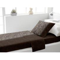 Soleil D'OCRE - Parure de lit coton 1 place Ispahan brun