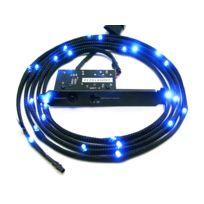 NZXT - Câble LED gainé CB-LED10-BU 12x LED - 1 m - Bleu