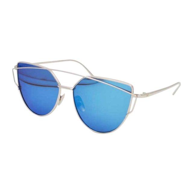 ... Wewoo - Lunettes de soleil Unisexe Fashion Color Film Uv400 lunettes de  réfléchissantes Argent + Ice ... f862ac224b84