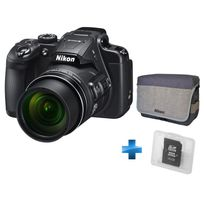 NIKON - Pack Amateur Coolpix B700 Noir + Carte SD 16GO + Sac