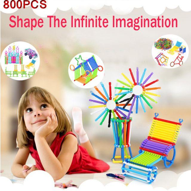 Generic Blocs de construction de sagesse d'épissage en plastique des lumières des enfants 800PCS