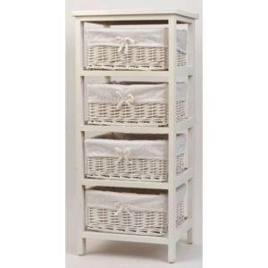 tendance meuble bois et 4 paniers en osier pas cher achat vente meubles de salle de bain. Black Bedroom Furniture Sets. Home Design Ideas
