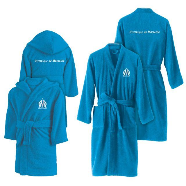c4581c7ffc7b8 Olympique De Marseille - Peignoir 6/8 ans offert pour l?achat du peignoir.  Couleur : Bleu