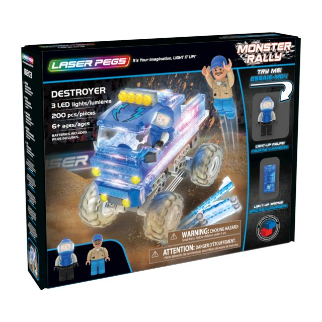 LASER PEGS MONSTER RALLY - Le Camion Destructeur - 18203
