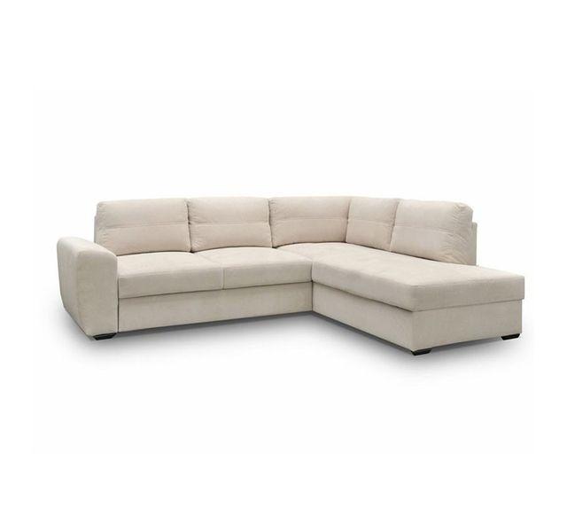 CHLOE DESIGN Canapé d'angle convertible en tissu MEISSA - blanc - Angle droit