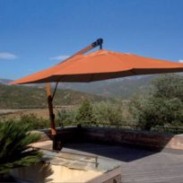 Abritez-vous Chez Nous - Parasol en bois diam. 4m Deco D Ailleurs Terracota