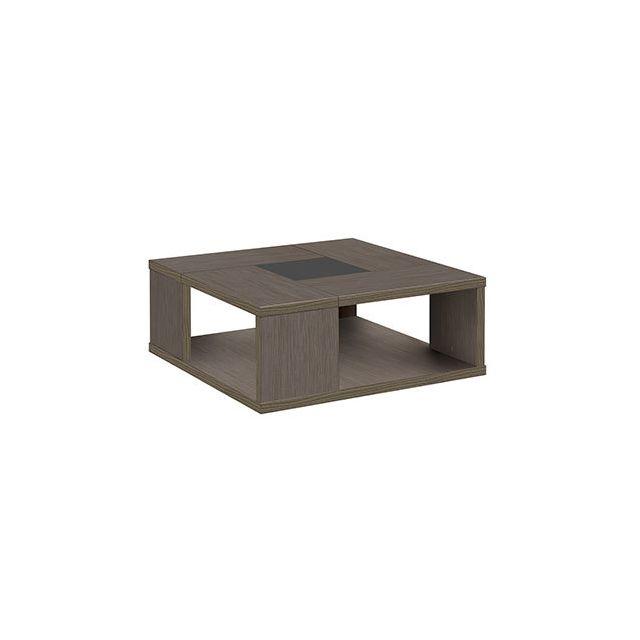 Table basse carrée 90cm décor chêne - Anabelle