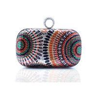 17e03b9c90 Blue Pearls - Sac à main Pochette de Soirée à paillettes Multicolor - Sac  030