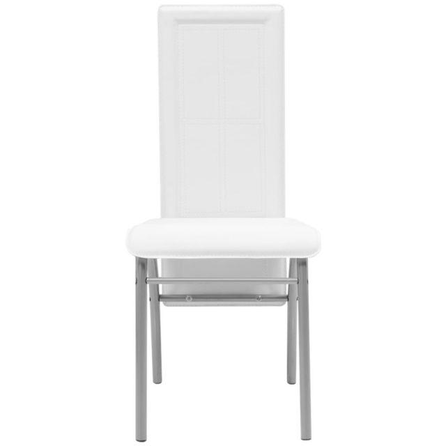 Icaverne Chaises de cuisine et de salle à manger collection Chaise de salle à manger 2 pièces Blanc